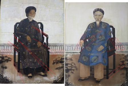 Người vẽ hai bức chân dung cụ ông Phan Văn Du và cụ bà Phạm Thị Thợi tỏ ra không hiểu biết về luật viễn cận tuyến tính.