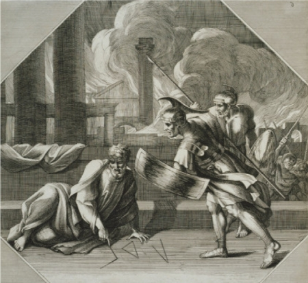 Sebastien Bourdon (1616 - 1671) Archimeds vẽ hình hình học trong khi thành Syracuse thất thủ