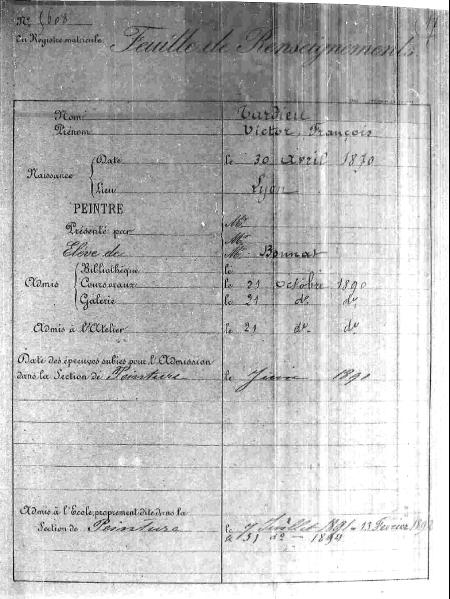 Nguyên bản chụp bản dữ kiện của Victor Tardieu trong lưu trữ quốc gia và trường Mỹ thuật Paris