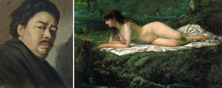 Yamamoto Hosui và một bức sơn dầu khoả thân theo phong cách hàn lâm Pháp của ông