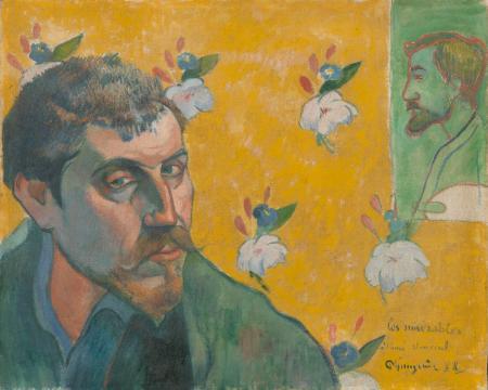 Paul Gauguin Les Misérables (Tự họa năm 40 tuổi với chân dung của Émile Bernard)