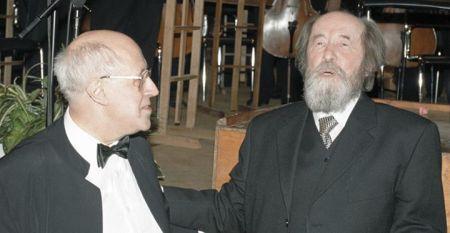 Mstislav Rostropovich và Aleksandr Solzhenitsyn