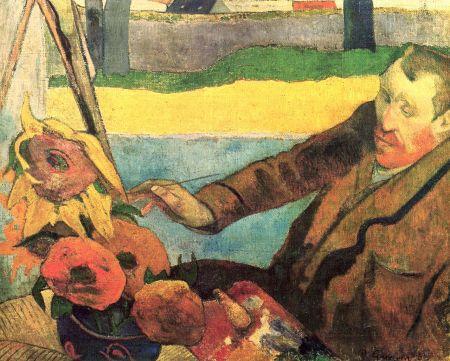 Paul Gauguin Chân dung Van Gogh đang vẽ tĩnh vật hoa hướng dương (1888)