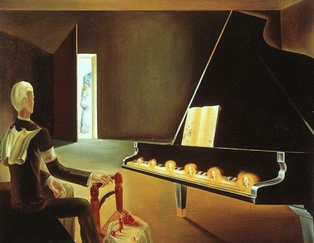 Salvador Dalí Ảo giác cục bộ: Sáu sự xuất hiện của Lenin trên đàn piano (1931) sơn dầu, 114 x 146 cm