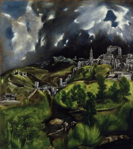 El Greco Quang cảnh Toledo (kh. 1598 - 1599)