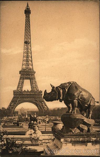 Tượng tê giác của nhà điêu khắc Alfred Marie Jacquemart (1824 - 1896) dựng năm 1878 tại quảng trường Trocadéro. Năm 1935 bức tượng được chuyển tới đặt trước bảo tàng Orsay.