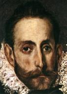 """El Greco, Tự hoạ, trích đoạn từ bức """"Mai táng bá tước Orgaz"""" (1586)"""
