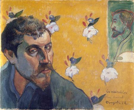 Tự hoạ (1888) Gauguin gửi cho Van Gogh trước khi tới Arles