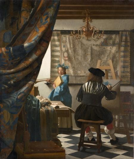 Johannes Vermeer Nghệ thuật hội hoạ (Hoạ sĩ trong xưởng vẽ) (1665 - 1668) sơn dầu, 130 x 110 cm