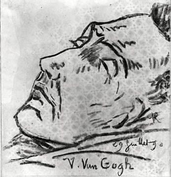 Paul-Ferdinand Gachet Van Gogh ngay sau khi qua đời (29.7.1890) Gachet là bác sĩ của Van Gogh.