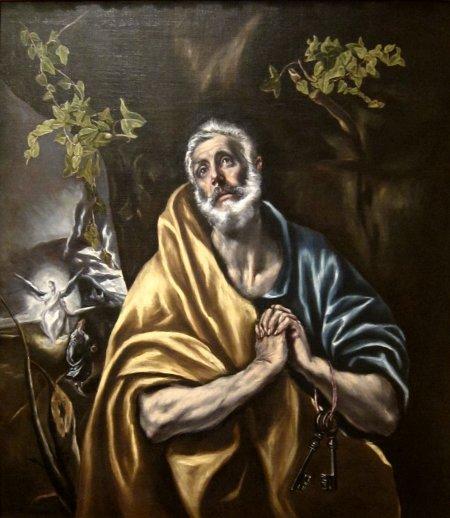 El Greco Sự sám hối của thánh Peter (kh. 1590 - 1595)