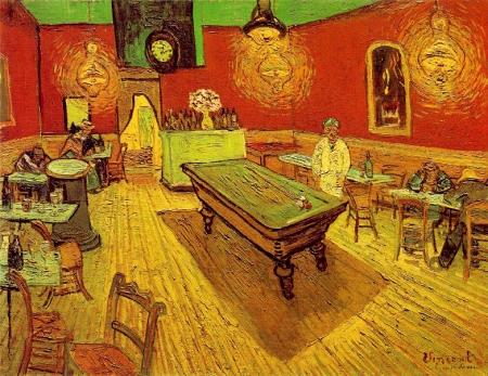 Vincent Van Gogh Quán cà-phê đêm (1888) Đây là Cà-phê nhà ga (Le café de la Gare) trên quảng trường Lamartine (place Larmartine) Nhà Van Gogh ở số 2, place Lamartine.