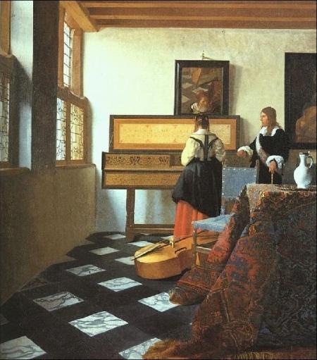 Johannes Vermeer Buổi học nhạc (1664) sơn dẩu, 73.3 x 64.5 cm
