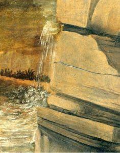 Nước do Leonardo vẽ bằng sơn dầu trong bức