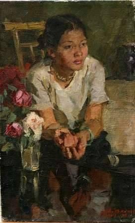 Uyên (1960) sơn dầu trên canvas, 45 x 28 cm
