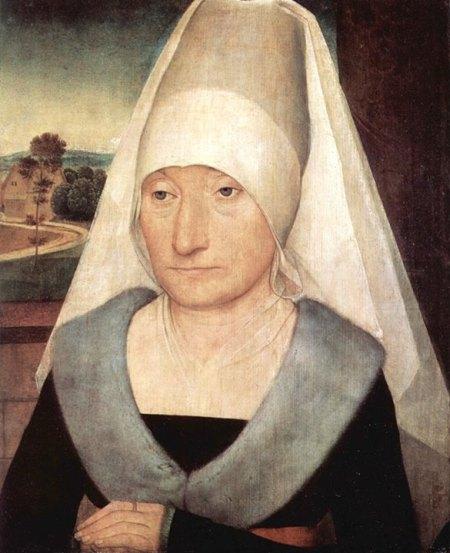 Hans Memling Chân dung một bà lão (kh. 1470 - 1472) sơn dầu trên ván gỗ, 35.4 × 29.3 cm Louvre, Paris