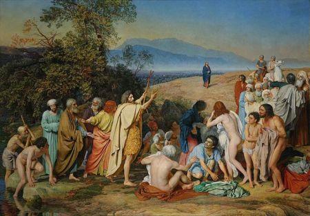 Alexander Ivanov Sự xuất hiện của Chúa Jesus trước dân chúng (1837 - 1857) sơn dầu trên canvas, 540 x 750 cm Bảo tàng Tretyakov