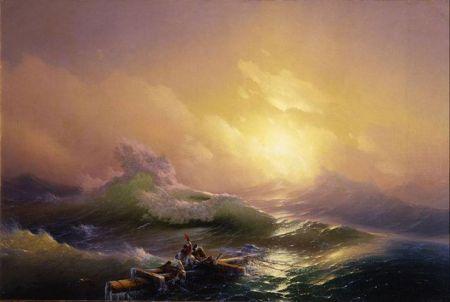Ivan Aivazovsky Con sóng thứ chín (1850) sơn dầu trên canvas, 221 x 332 cm Bảo tàng Nga, St. Petersburg