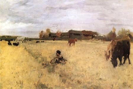 Valentin Serov Tháng Mười (1895) sơn dầu trên canvas, 48.5 х 70.7 cm Bảo tàng Tretyakov
