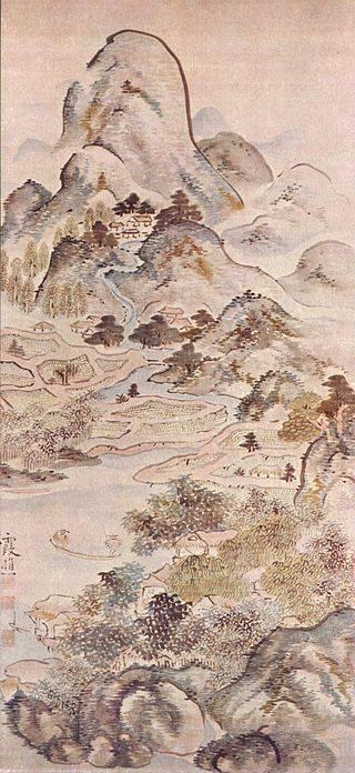 Ike no Taiga (1723 - 1776) Câu cá mùa xuân (1747) (phái Nam hoạ)