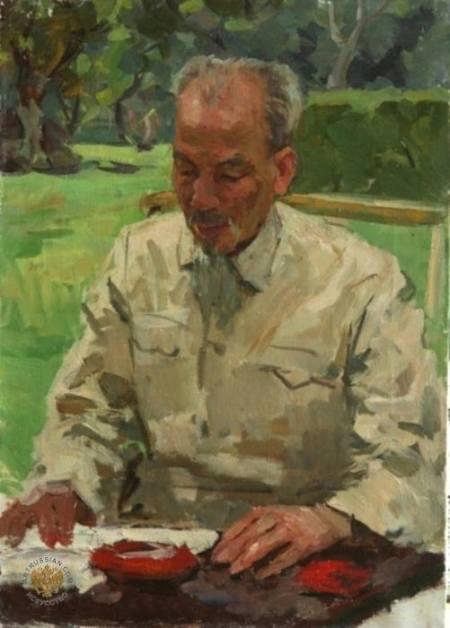 Chân dung Hồ Chí Minh (1960) sơn dầu trên canvas, 67 x 47 cm