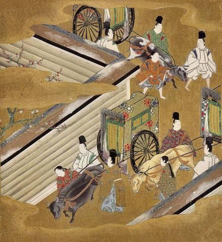 Được cho là của Tosa Mitsuoki (1617 - 1691) Minh hoạ truyện Genji (phái Tosa)