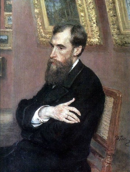 Ilya Repin Chân dung Pavel Tretyakov(1883)