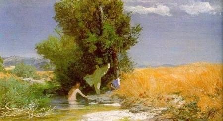 Arnold Böcklin Tiên nữ tắm (1863 - 1866) sơn dầu trên canvas