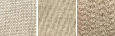 Từ trái sang phải: mẫu canvas dệt trơn, dệt chéo, và dệt xương cá