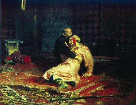 Ilya Repin Ivan bạo chúa và con trai Ivan (1885) sơn dầu trên canvas, 199.5 x 254 cm Bảo tàng Tretyakov