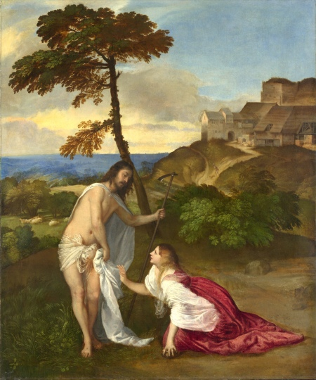 No 7:Đừng động đến ta (Noli me tangere), kh. 1514, 110.5 x 91.9, National Gallery London