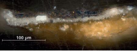 Mặt cắt một mẫu nền bên phải bức