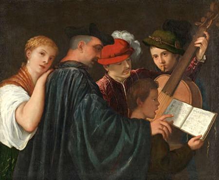 No 12: (Có thể do Titian vẽ)Buổi học nhạc, kh. 1535, 99 x 120 cm, National Gallery London