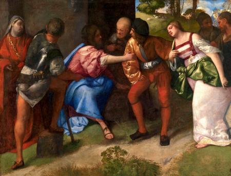 No. 2:Chúa Jesus và người đàn bà ngoại tình, kh. 1508 - 1510, 139.2 x 181.7 cm, Kelvingrove Art Gallery and Museum, Glasgow