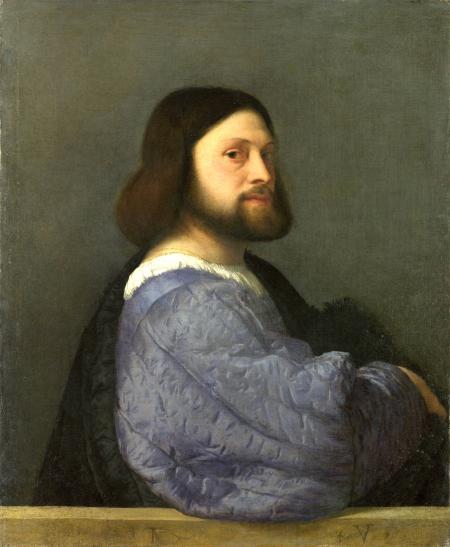 No 5:Chân dung người đàn ông mặc áo bông [Chân dung Gerolamo (?) Barbarigo], kh. 1508 - 1510, 81.2 x 66.1 cm, National Gallery London