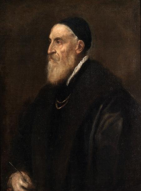 Titian Tự họa (kh. 1567) sơn dầu trên canvas, 86 x 65 cm Museo del Prado
