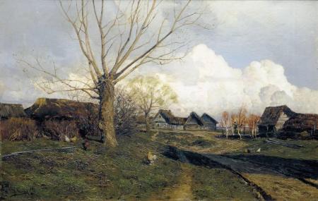 Isaak Levitan Làng Savvinskaya gần Zvenigorod (1884) (tức được vẽ trước khi nhìn thấy Monet và Böcklin)