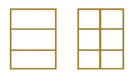 Trái: Thiết kế thường; Phải:Thiệt kế thanh giằng chữ thập (cross-bracing).