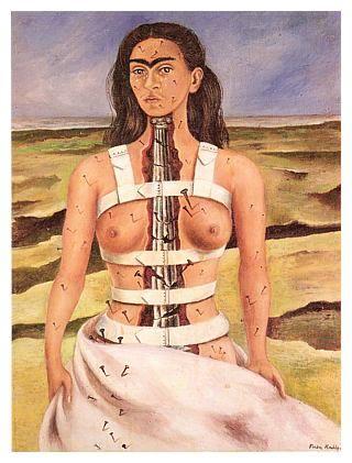 Frida Kahlo Cái cột gãy (1944) (tự hoạ)