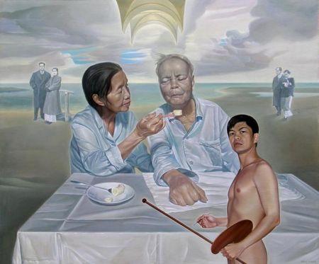 Nguyễn Đình Đăng tự hoạ trong Đại dương mùa đông (2005)
