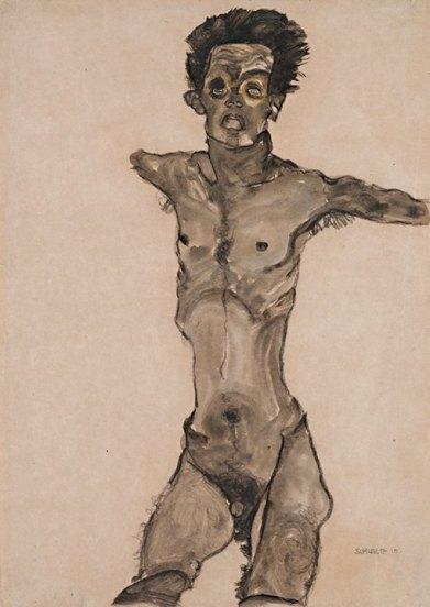 Egon Schiele Tự hoạ (1910)