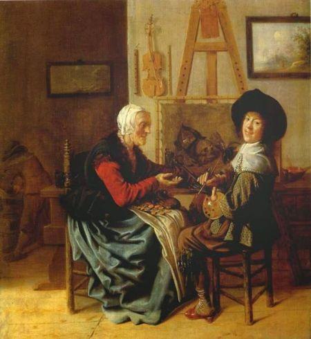 Jan Miesen Molenaer (1610 - 1668) Tự hoạ trong xưởng vẽ