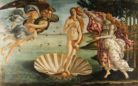 Sandro Botticelli Sự ra đời của Vệ Nữ (1483 - 1485) tempera trên ván gỗ, 172.5 x 278.5 cm