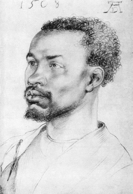 AlbrechtDürer Đầu một người da đen