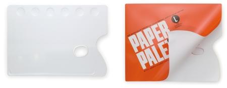 Palette kim loại (trái) và palette giấy (phải)