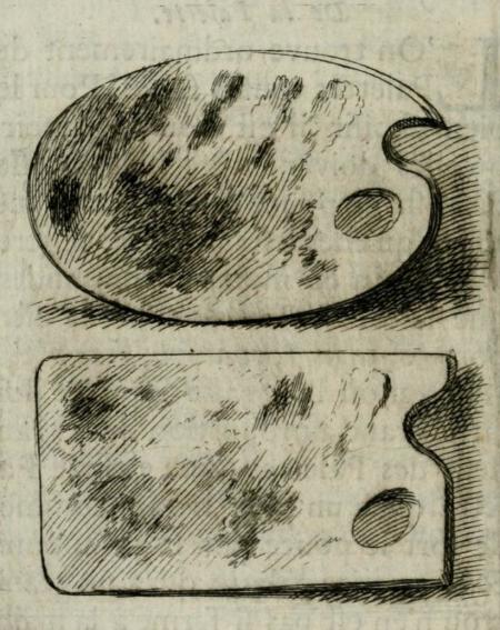 Mẫu palette hình bầu dục và hình chữ nhật trong sách của Roger de Piles