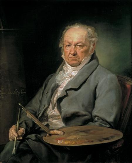 Vicente López y Portaña (1772 - 1850) Chân dung Francisco Goya (1826) sơn dầu, 93 x 75 cm, Prado