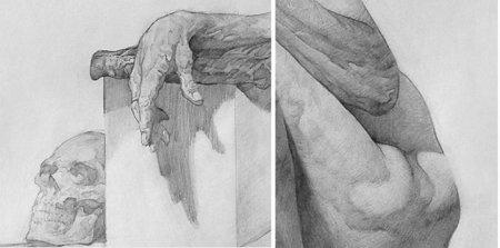 Một ví dụ về đường nét không đẹp: Trích đoạn dessin của một hoạ sĩ Mỹ vẽ theo lối cấu trúc.