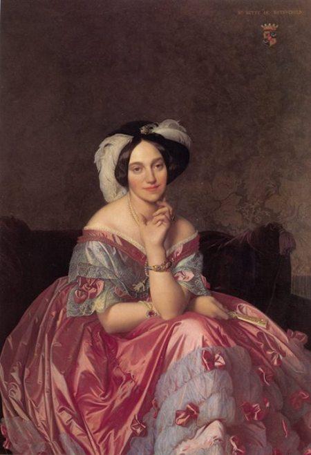 Jean-Auguste-Dominique Ingres Chân dung nữ nam tước James Rothschild (1848) sơn dầu, 141.9 x 101 cm