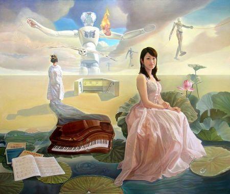 Nguyễn Đình Đăng Lối ra 2007 sơn dầu, 162 x 194 cm